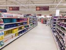 Opinião do supermercado Imagens de Stock