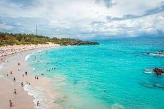Opinião em ferradura da praia da baía Foto de Stock Royalty Free