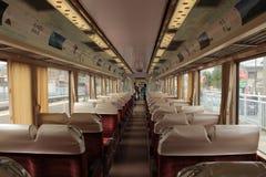 Opinião interna da cabine do trem do tabito Imagens de Stock Royalty Free