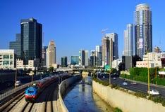 Opinião moderna de Tel Aviv Foto de Stock