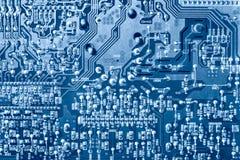 Opinião superior do chip de computador Imagens de Stock