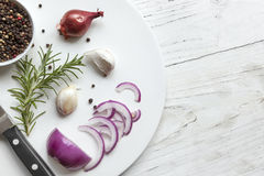 Opinião superior do fundo do alimento Imagens de Stock