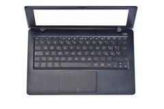Opinião superior do portátil do computador isolada Fotos de Stock