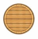 Opinião superior do tambor de madeira Imagens de Stock