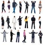 Opinião traseira da coleção os executivos Imagens de Stock Royalty Free