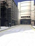 Opinião urbana do retrato da ilustração da rua Fotografia de Stock