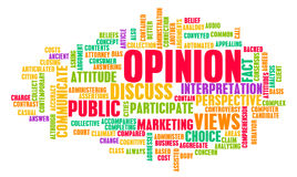 Opinion. And Personal Views on a Public Issue stock illustration