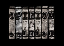 Opinion concept Royalty Free Stock Images