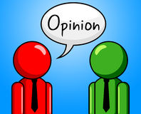 Opinion Conversation Indicates Point Of View And Assumption Stock Photos