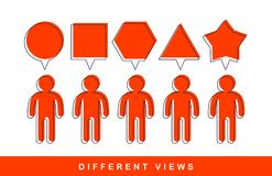 Free Opinion Diversity Vector Concept, Different Perspectives Metaphor. Stock Image - 168326301