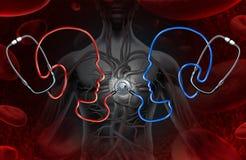 Opinion en second lieu médicale Image stock