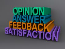 Opinion and feedback sign Stock Photo
