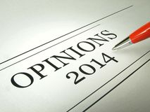 Opinion News Headlines Stock Image