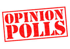 OPINION POLLS. Red Rubber Stamp over a white background Stock Photos