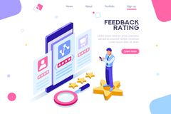 Opinion Survey Banner Rating Concept stock illustration