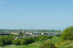 Opiniones aéreas de Edimburgo imagenes de archivo