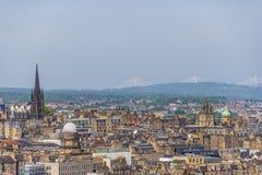 Opiniones aéreas de Edimburgo fotos de archivo libres de regalías