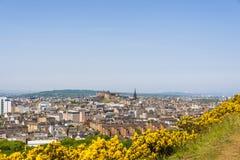 Opiniones aéreas de Edimburgo foto de archivo libre de regalías
