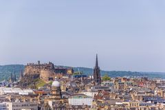 Opiniones aéreas de Edimburgo imágenes de archivo libres de regalías