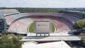 Opiniones aéreas Sanford Stadium foto de archivo libre de regalías