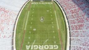 Opiniones aéreas Sanford Stadium imágenes de archivo libres de regalías