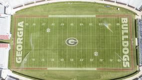 Opiniones aéreas Sanford Stadium fotos de archivo