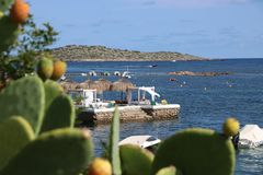 Opiniones agradables el santo Antonio de Ibiza foto de archivo