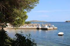 Opiniones agradables el santo Antonio de Ibiza imagen de archivo