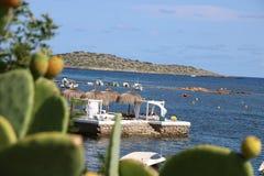 Opiniones agradables el santo Antonio de Ibiza fotos de archivo libres de regalías