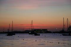 Opiniones agradables el santo Antonio de Ibiza Fotos de archivo