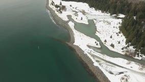 Opiniones costeras de Alaska almacen de video