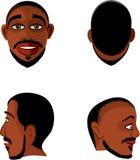 Opiniones de la cabeza del hombre negro Imagen de archivo