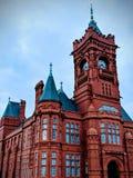 Opiniones de la ciudad de Cardiff fotografía de archivo libre de regalías
