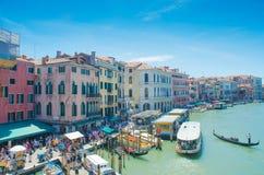 Opiniones de la ciudad de Venecia Imagen de archivo libre de regalías