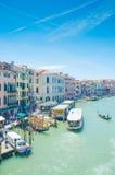 Opiniones de la ciudad de Venecia Foto de archivo libre de regalías