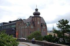 Opiniones de la ciudad de Estocolmo fotografía de archivo