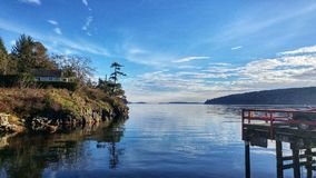 Opiniones de la isla de Saltspring fotografía de archivo libre de regalías
