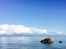 Opiniones de la playa imagen de archivo libre de regalías