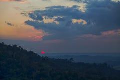 opiniones de la puesta del sol fotografía de archivo