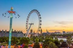 Opiniones de la tarde del verano de Londres Foto de archivo libre de regalías