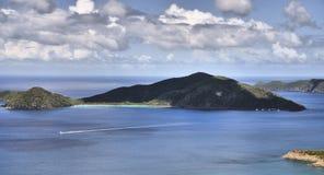 Opiniones de las Islas Vírgenes fotografía de archivo