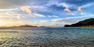 Opiniones de las Islas Vírgenes imagen de archivo libre de regalías