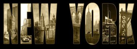 Opiniones de Manhattan en Nueva York Foto de archivo libre de regalías