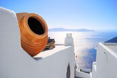 Opiniones de Santorini, Grecia Foto de archivo libre de regalías