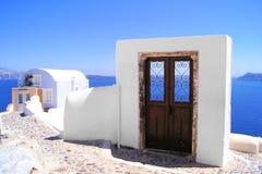 Opiniones de Santorini, Grecia Fotografía de archivo libre de regalías