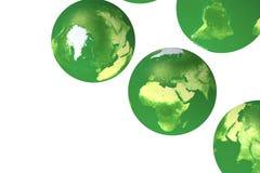 opiniones del globo del eco 3d Foto de archivo libre de regalías