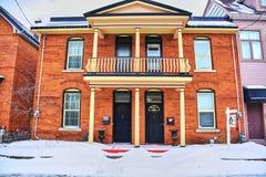 Opiniones del invierno de Canadá fotografía de archivo libre de regalías