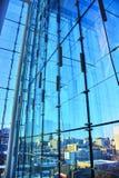 Opiniones del invierno de las ventanas de cristal constructivas de Canadá Foto de archivo