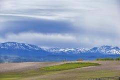 Opiniones del paisaje de Tremonton y de Logan Valley del paso de la carretera 30, incluyendo ciudades el colocar, de Beaverdam, d imágenes de archivo libres de regalías