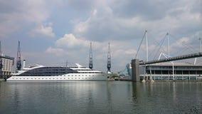 Opiniones del río de los Docklands Imagen de archivo libre de regalías